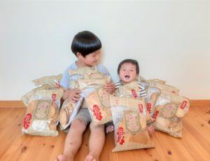 お菓子と子供
